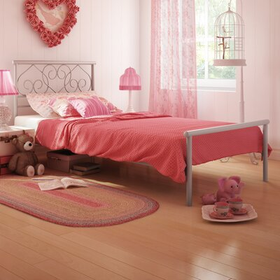 Amisco Ballerina Twin Size Metal Bed