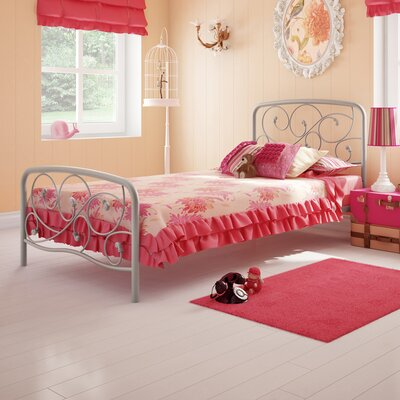 Amisco Serpentine Twin Steel Bed