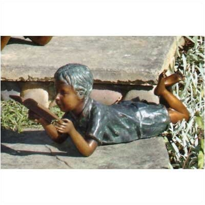Brass Baron Children Solitude Boy Statue