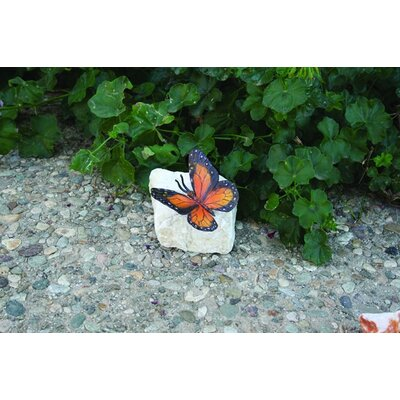 Brass Baron Butterfly Rock Garden Accents (set of 4)