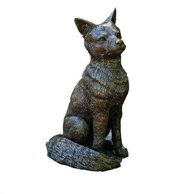 Brass Baron Fox Garden Statue