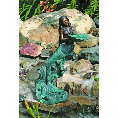Sea Life Mystical Mermaid Fountain
