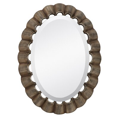 Traditional Oval Bevel Wall Mirror
