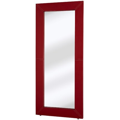 Contemporary Leather Plain Mirror