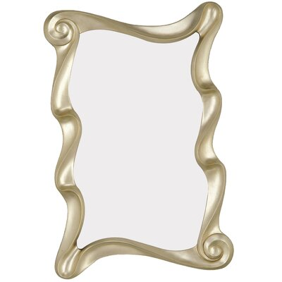 Contemporary Rectangular Scroll Wall Mirror