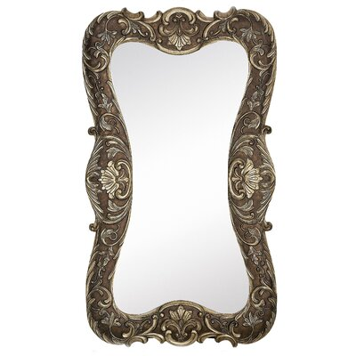 Majestic Mirror Traditional Plain Mirror with Dark Wash in Antique Silver