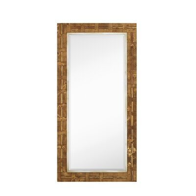 Majestic Mirror Mixed Media Rectangle Bevel Floor Mirror