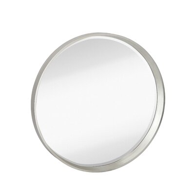 Contemporary Round Bevel Wall Mirror