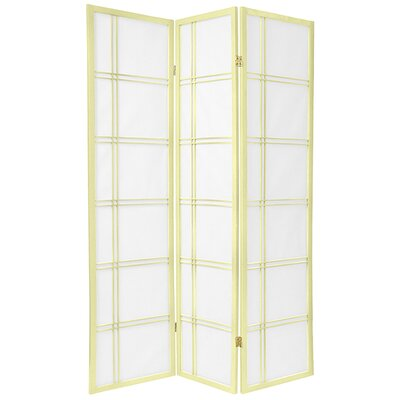 Oriental Furniture Double Cross Shoji Screen in Ivory