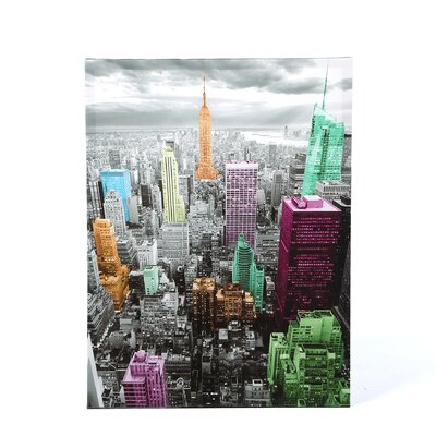 "<strong>Oriental Furniture</strong> High-Lights of New York Skyline Canvas Wall Art - 31.5"" x 23.5"""