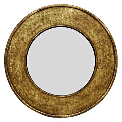 Round Calligraphy Wall Mirror