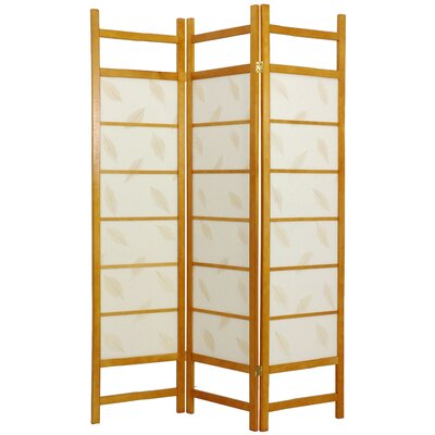 Oriental Furniture Botanic Decorative Room Divider in Honey