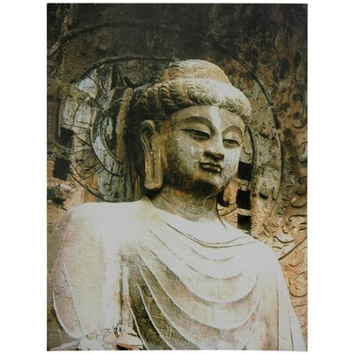 Oriental Furniture Gautama Buddha Statue Canvas Wall Art
