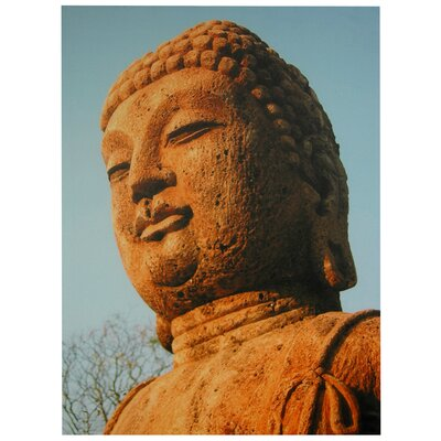 "Oriental Furniture Rust Color Buddha Statue Canvas Wall Art - 23.5"" x 31.5"""