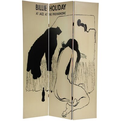 Oriental Furniture 6 Feet Tall Billie Holiday Double Sided Room Divider