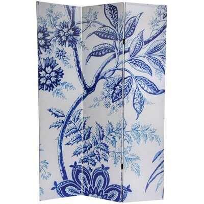 Oriental Furniture 6 Feet Tall Floral Double Sided Room Divider