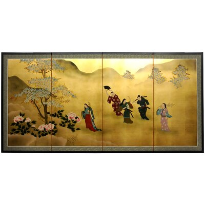Flower Dance 4 Panel Room Divider