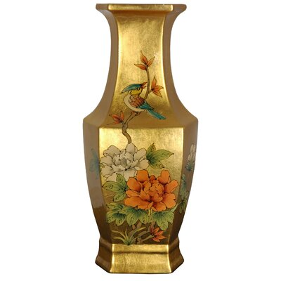 Oriental Furniture Hexagonal Vase