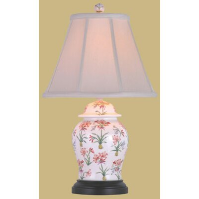 Oriental Furniture Porcelain Floral Jar Table Lamp