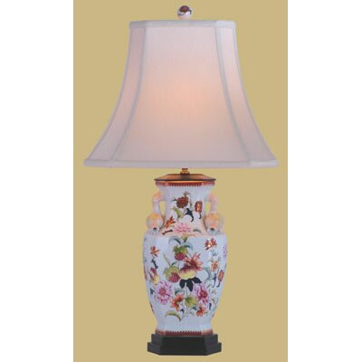 Oriental Furniture Porcelain Pomegranate Vase Table Lamp