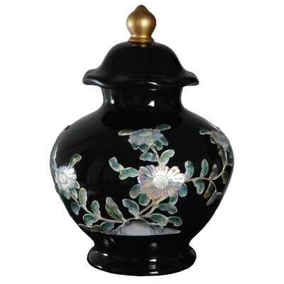 Oriental Furniture Temple Decorative Urn