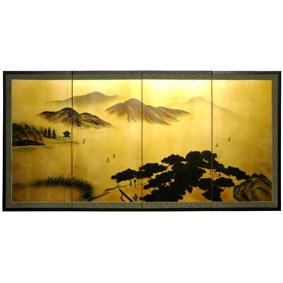 Mountain 4 Panel Room Divider