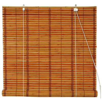 Oriental Furniture Burnt Bamboo Roller Blind AllModern