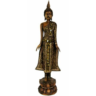 "Oriental Furniture 22"" Standing Thai Buddha Statue"