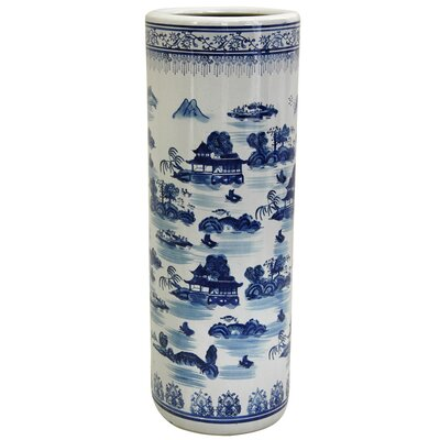 Oriental Furniture Landscape Umbrella Stand