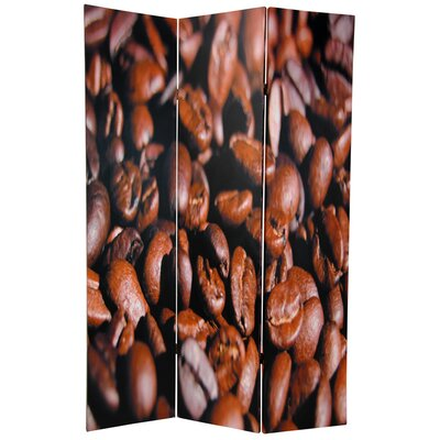 Oriental Furniture Double Sided Coffee Beans Room Divider in Brown