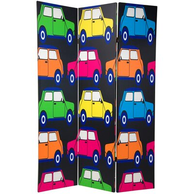 Double Sided Colorful Cars Room Divider