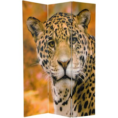 Oriental Furniture Double Sided Leopard Room Divider