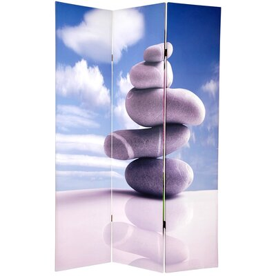 Double Sided Zen Room Divider in Gray Stones