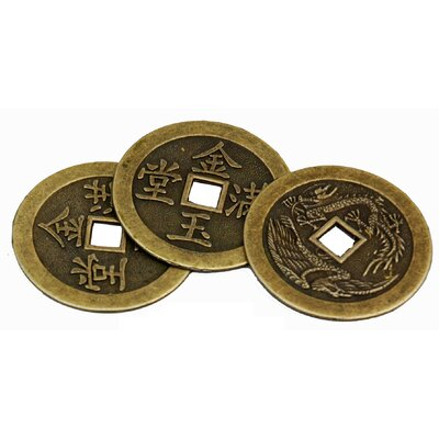 Oriental Furniture Single Round Coin