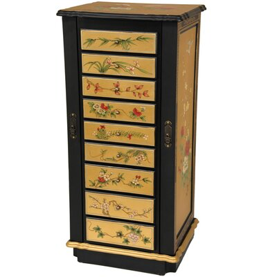 Nine Drawer Jewelry Cabinet in Gold