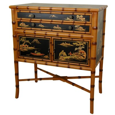 Oriental Furniture Ching 2 Drawer Cabinet