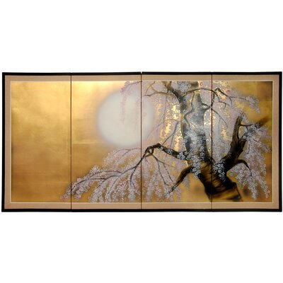 Gold Leaf Sakura Blossom Wall Art