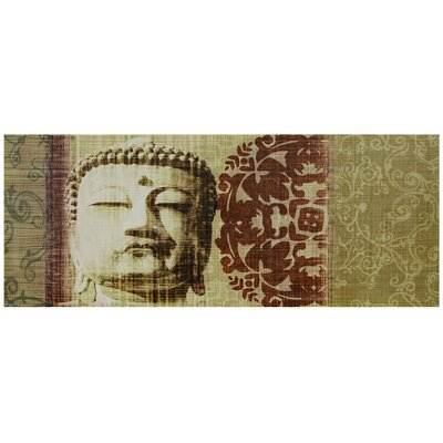 "Oriental Furniture Buddha Bust Canvas Wall Art - 15.75"" x 39.25"""