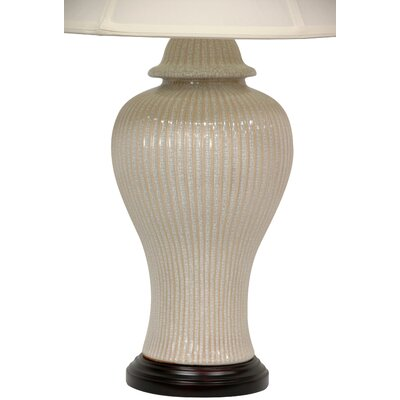 Oriental Furniture Distressed Carinated Vase Table Lamp