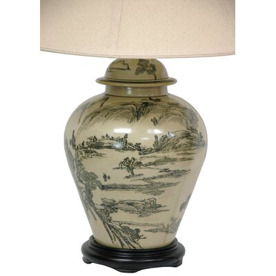 Oriental Furniture Xian Landscape Vase Table Lamp