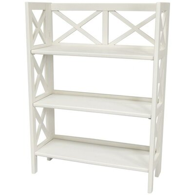 Oriental Furniture Architectural Bookcase Shelf Unit in White
