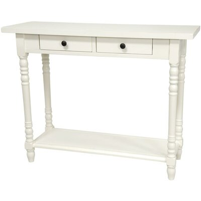 furniture foyer console table with 2 drawers