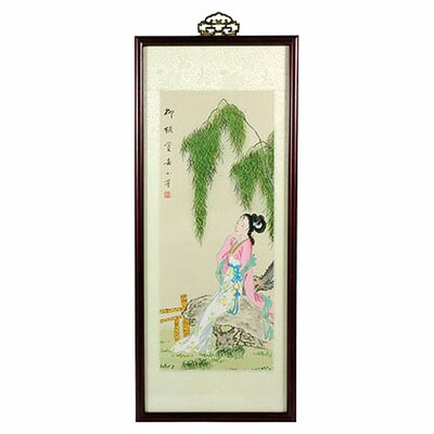 Oriental Furniture Day Dreamer Oriental Watercolor Painting