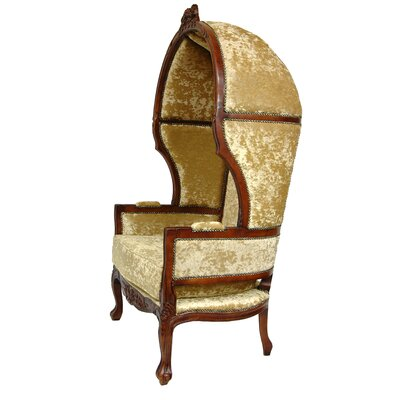 Oriental Furniture Queen Victoria Velvet Balloon Chair