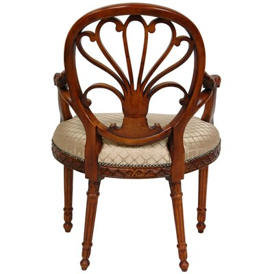 Oriental Furniture Queen Elizabeth Fabric Arm Chair
