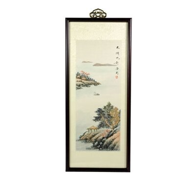 Zen Retreat Oriental Watercolor Painting