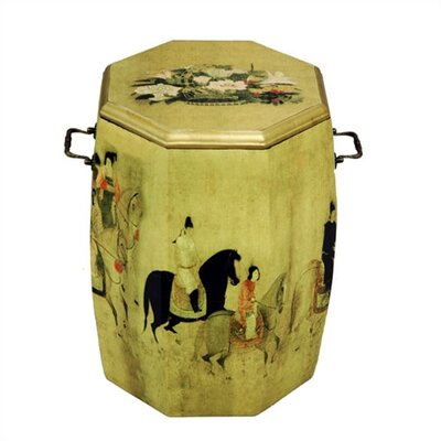 Oriental Furniture Oriental Drum Stool