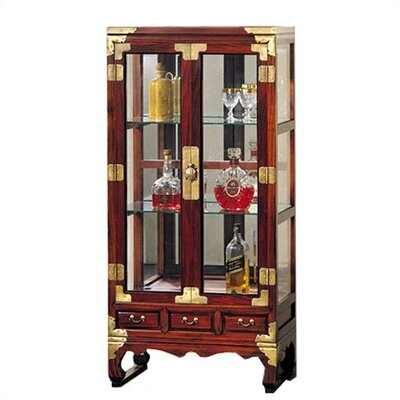 Oriental Furniture Asian Curio Cabinet