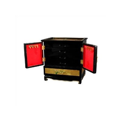 Oriental Furniture Gold Leaf Empress lacquer Jewelry Box