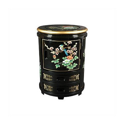 Oriental Furniture Japanese Decorative Storage Stool